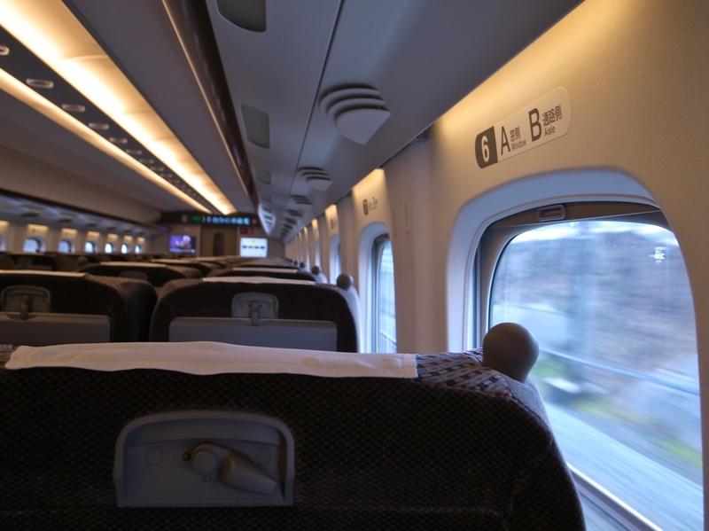 新幹線は珍しい。