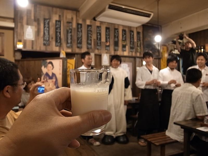 ミルクで乾杯!