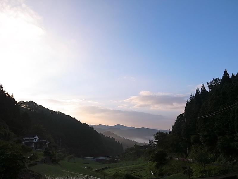 朝は美しい。