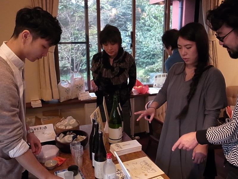 特設日本酒バー。