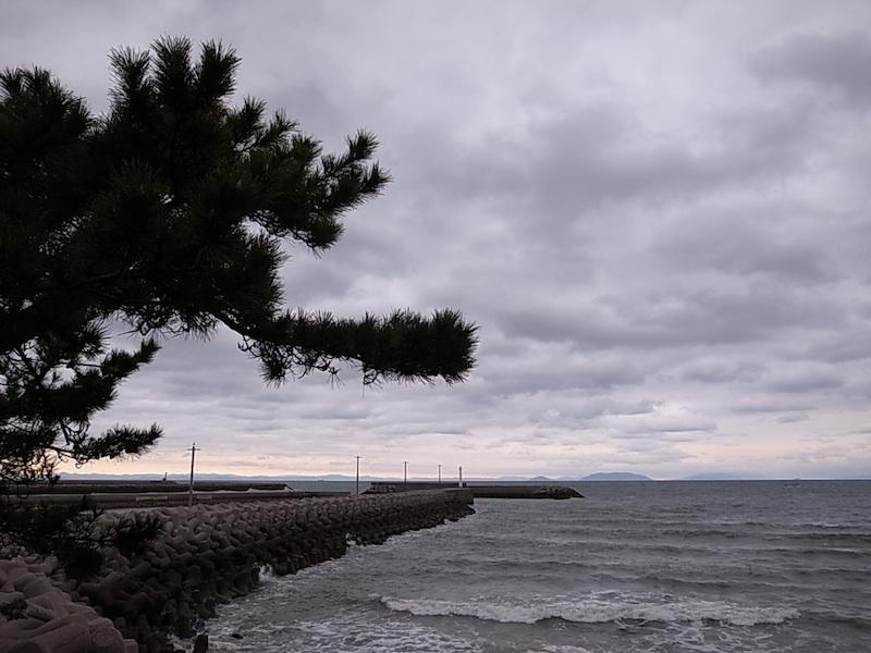 国東の海で。