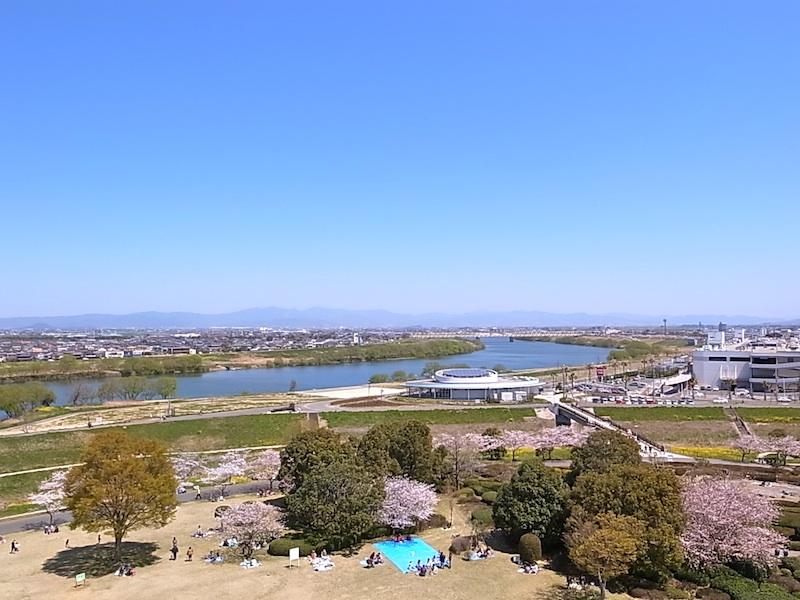 筑後川を見下ろして。