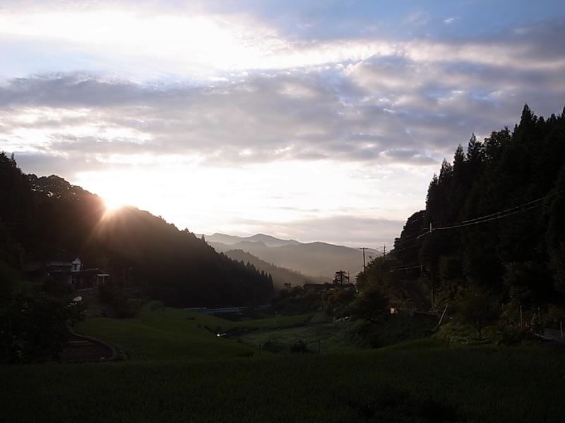 朝陽が現れた。