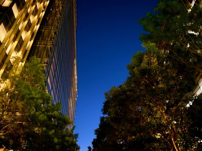 東京の夕刻。
