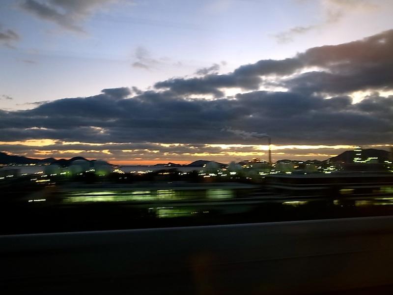 瀬戸内の夕景。