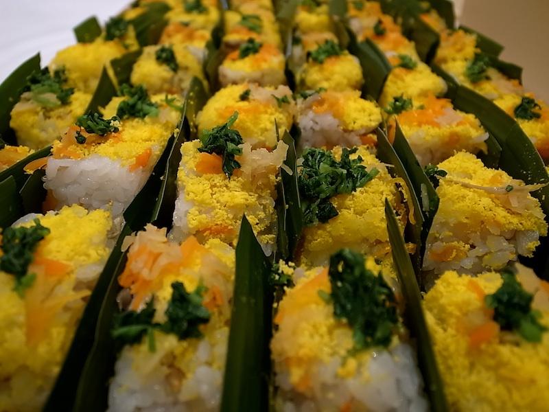 きれいな押し寿司。
