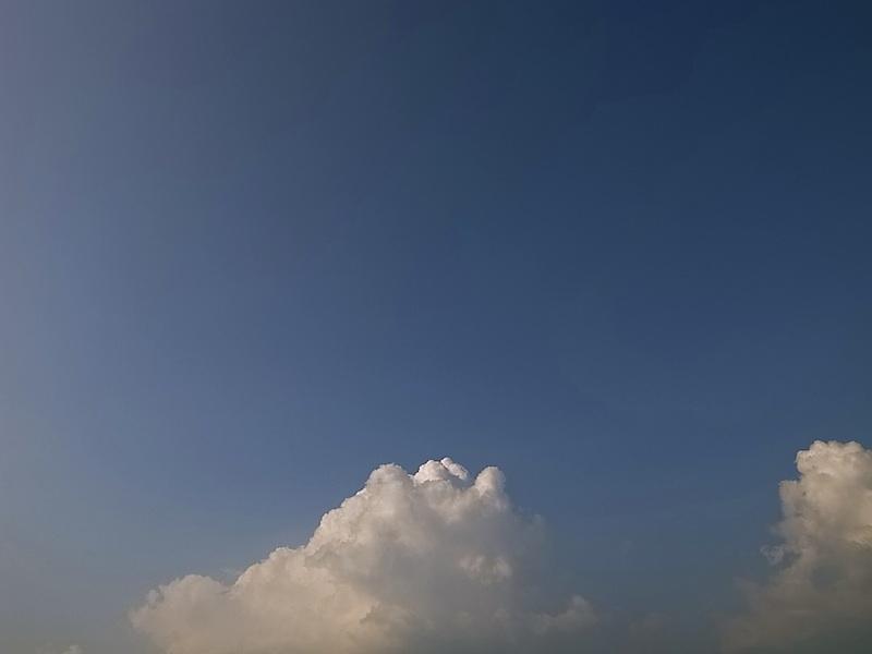 やさしい雲。
