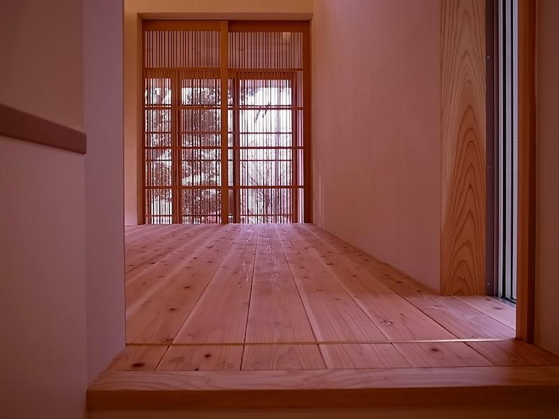 自然素材の家。
