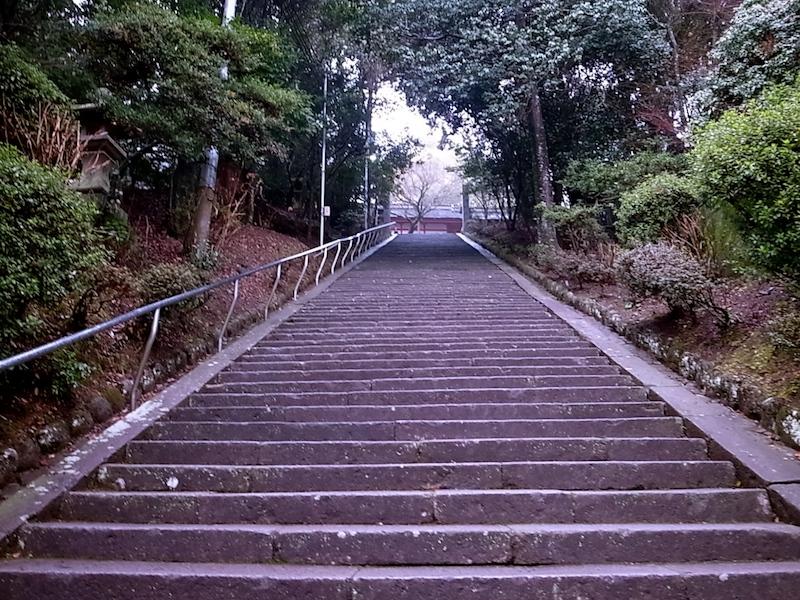 それは長い階段かも。